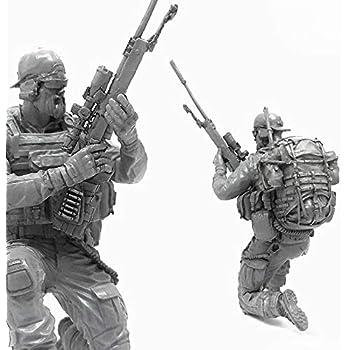 Us Navy Seal Commando Brutal Beard Sniper M Rifle Resin Scale Model