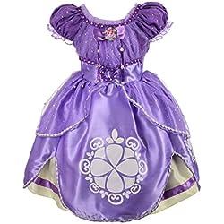 Dressy Daisy Girls' Princess Sofia Dress up Costume Cosplay Fancy Party Dress Size 4T