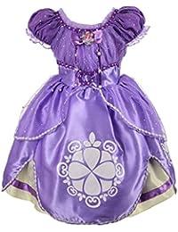 Girls' Princess Sofia Dress up Costume Cosplay Fancy Party Dress