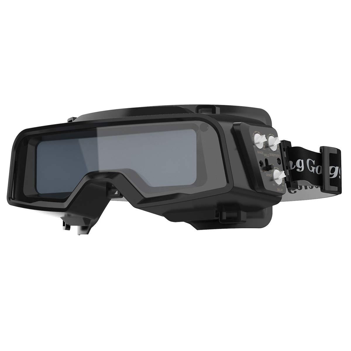 YESWELDER True Color Auto Darkening Welding Goggles,Wide Shade Range 4/5-9/9-13 with Grinding, Welding Glasses Welder Mask for TIG MIG MMA Plasma
