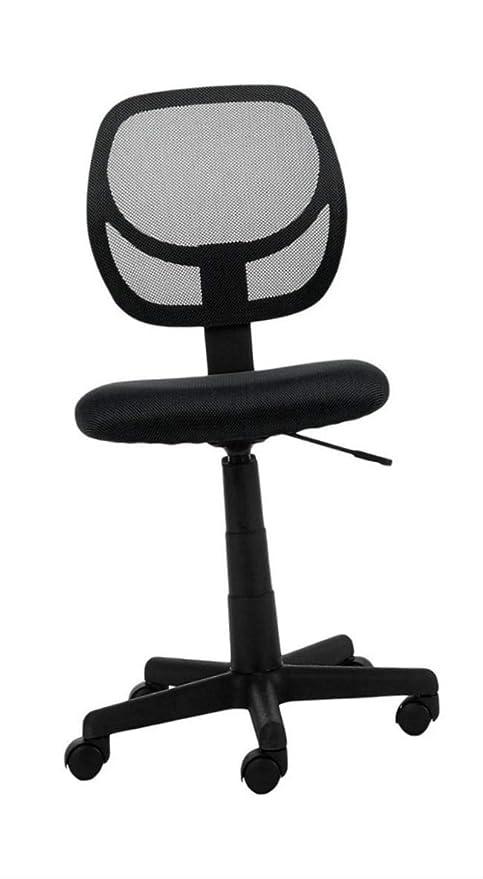 Wondrous Amazon Com Armless Desk Chair Ergonomic Cute Black Height Pabps2019 Chair Design Images Pabps2019Com