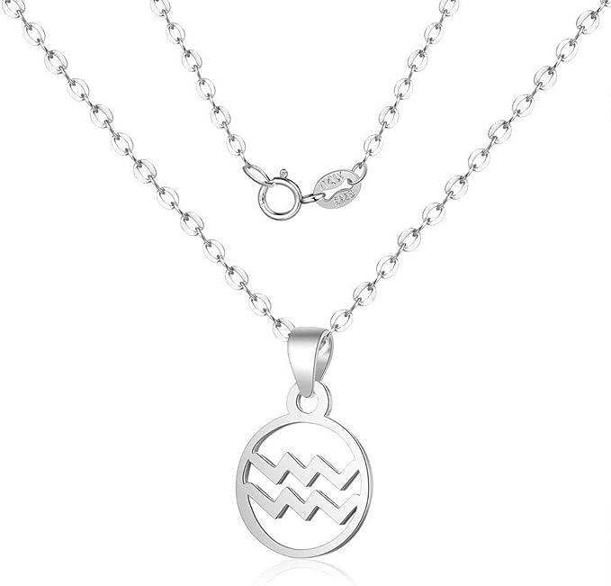 MNSYD Horoscope Lettre Pendentif Collier Douze Constellations Clavicule Cha/îne Cou D/écoration Bijoux Accessoires Cadeau,b/élier