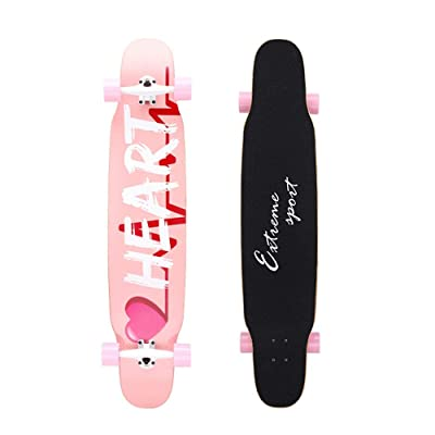 Qi Peng Street Longboard, Complete Board, for Cruising, Carving, Freestyle, Downhill and Dancing. Beginner Boys and Girls Adult : Sports & Outdoors
