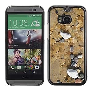Be Good Phone Accessory // Dura Cáscara cubierta Protectora Caso Carcasa Funda de Protección para HTC One M8 // Sea Beach Interesting Contour Geology