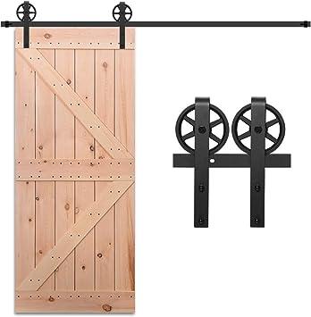 Gu/ía de suelo ajustable CCJH 152CM//5FT Herraje para Puerta Corredera Kit de Accesorios riel