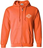Koloa Surf(tm) Diamond Thruster Logo Full Zipper Hoodie-Hooded Sweatshirt-NeonOrange/w-4XL
