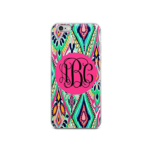 Custom Monogrammed   Lilly Inspired Print   Iphone 6 6S Case  Jewel