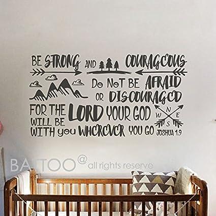 amazon com battoo joshua 1 9 be strong and courageous boys nursery