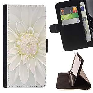 Momo Phone Case / Flip Funda de Cuero Case Cover - Blanca flor de la flor - LG G2 D800
