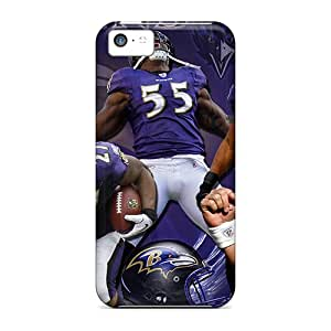 Shockproof Hard Phone Covers For Iphone 5c (gpH19624Uzux) Unique Design High-definition Baltimore Ravens Skin