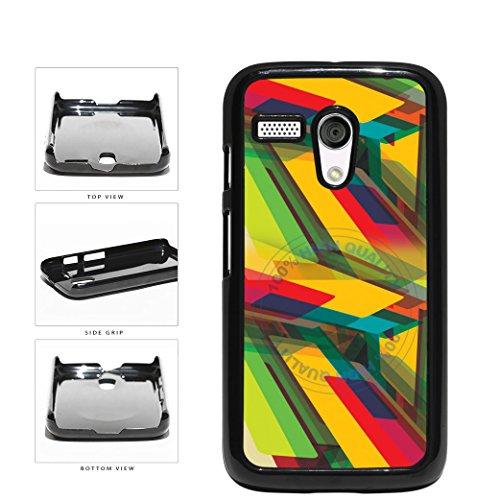 BleuReign(TM) Rasta Geometric Abstract Design Plastic Phone Case Back Cover For Motorola Moto G (Motorola Moto G Case Rasta)