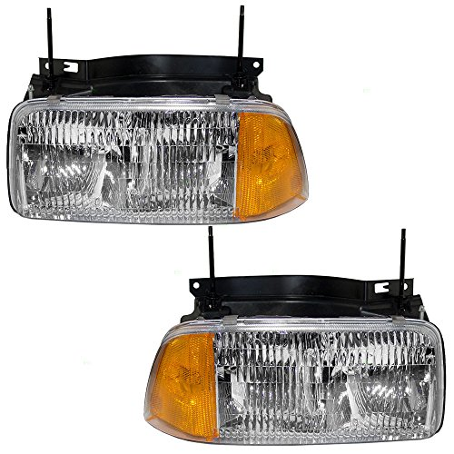 Headlamp Sonoma Headlight Gmc Truck - Driver and Passenger Halogen Composite Headlights Headlamps Replacement for GMC Pickup Truck SUV 16525157 16525158