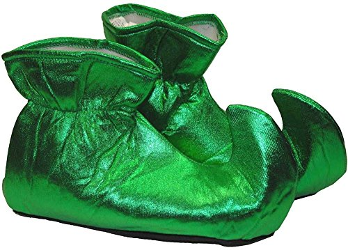 [Forum Novelties Women's Deluxe Costume Cloth Elf Shoes, Green, One Size] (Genie Costumes For Teens)