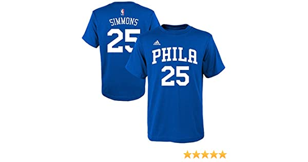 Amazon.com : Ben Simmons Philadelphia 76ers Blue Jersey Name and Number T-Shirt X-Large : Sports & Outdoors