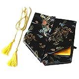 SODIAL(R) 135cm Dragon and Phoenix Katana Samurai Sword Bag Tissu Black