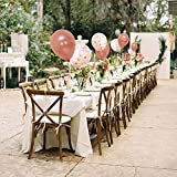 Rose Gold Balloons & Rose Gold Confetti Balloons (60) -12 inch- Premium Quality Balloons for Baby Shower, Bridal Shower, Bachelorette, Wedding or Birthday Parties. (Ribbon Included) x2
