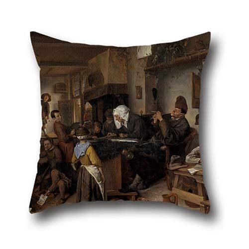 [Oil Painting Jan Steen - A School For Boys And Girls Pillowcover 16 X 16 Inches / 40 By 40 Cm For Valentine,monther,home,saloon,home,study Room With Two] (Leo Johnson Costume)