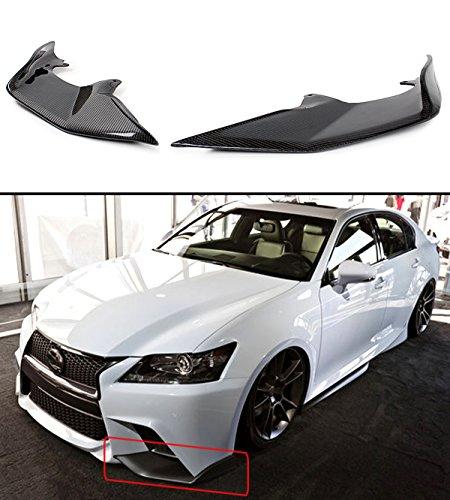 - 2 PC JDM Carbon Fiber Front Bumper Splitter Lip Fits for 2013-2015 Lexus GS350 F Sport