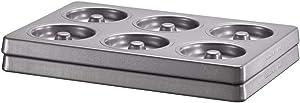 KitchenAid Set of 2 x 6 Cavity Mini Doughnuts, 18.2x27.3x4 cm, Silver