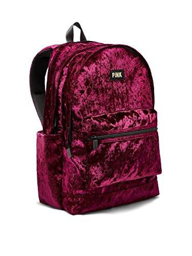 Victoria's Secret PINK Velvet Campus Backpack Ruby