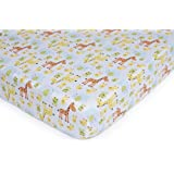 Carter's Easy Fit Printed Crib Fitted Sheet, Safari Duck (Discontinued by Manufacturer)