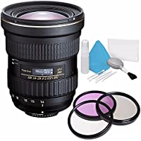Tokina AT-X 14-20mm f/2 PRO DX Lens for Canon EF (International Model) No Warranty + Deluxe Cleaning Kit + 82mm 3 Piece Filter Kit Bundle 2