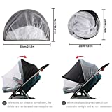 Dreamsoule Baby Stroller Sun Shading Cloth Cover Baby Carriage Mosquito Net Protection Against Ultraviolet Ray/Dust/Bug, Universal Size, Weather Protection, White