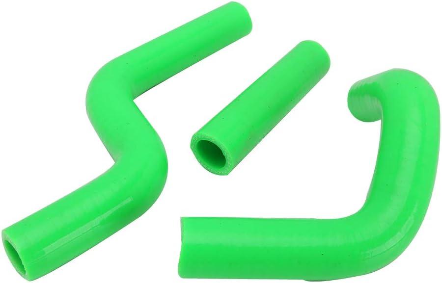 JFG RACING Kit de manguera de silicona refrigerante para radiador de motocicleta para Kawasaki KX100 1998-2009 KX100 2011-2013 KX80 1998-2000 KX85 2001-2013 verde