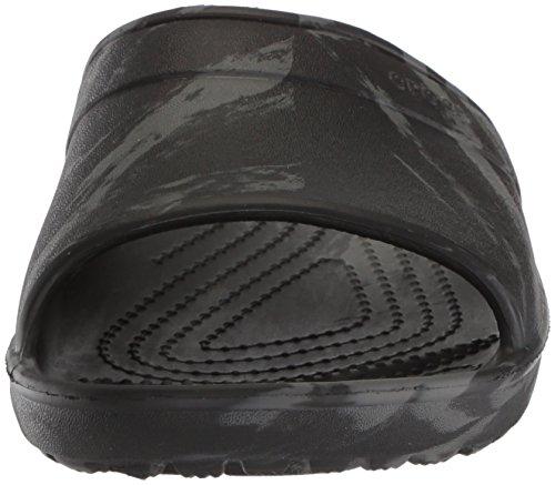 Crocs Unisex Classic Swirl Slide GS Sandal, Black, 2 M US Little Kid by Crocs (Image #4)