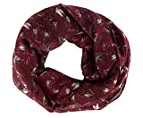 Peach Couture Summer Fashion Womens Chic Bird Print Infinity Scarves Maroon offers