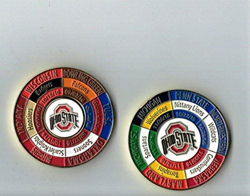 Ohio State Buckeyes 2016 Game Day Schedule Coin w/ Ball Marker