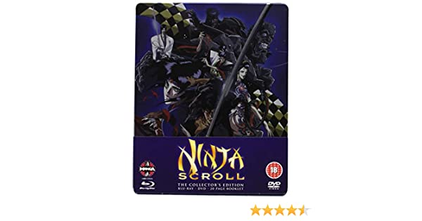 Ninja Scroll Blu-ray/DVD Steelbook by Daisuke Gouri: Amazon ...