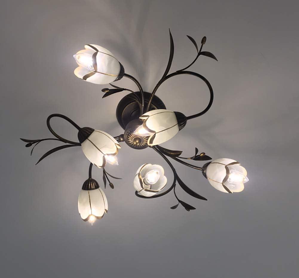 Retro Florentiner Deckenleuchte Blumenform Deckenlampe klassisch Kristall klar Chic-Stil Decorative Deckenbeleuchtung Ø80cm 8-flammig 6-flammig Decken Lampe
