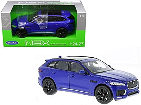 1:34 Blue JAGUAR F-Pace Diecast Model Car Vehicle By Welly W//Case For Boys/&Girls