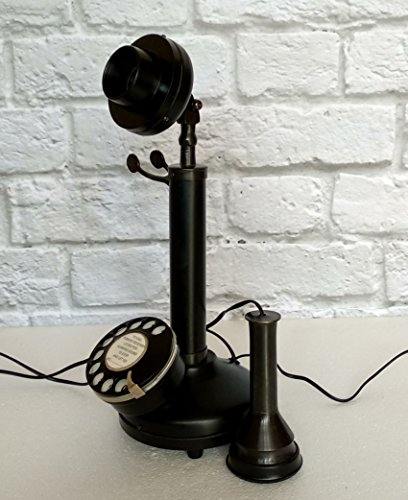 Decor n style store Antique Reproduction Rotary Dial Candlestick Working Telephone Vintage Style