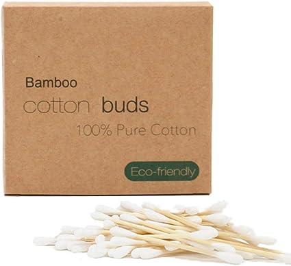 Alapaste - Juego de 500 bastoncillos de algodón orgánicos de doble cabeza, biodegradables de madera, ideales para maquillaje y cuidado de heridas: Amazon.es: Belleza