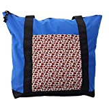Lunarable Kids Shoulder Bag, Happy Ladybird Childish Doodle, Durable with Zipper