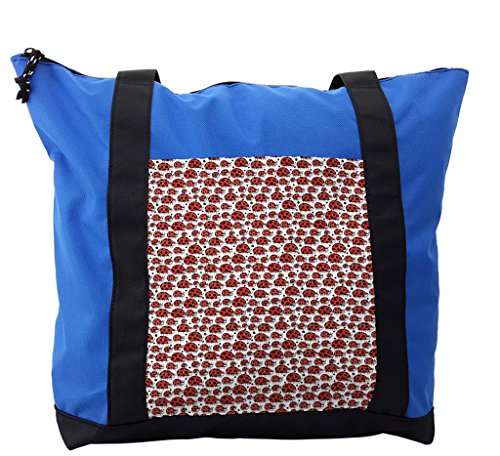 Lunarable Kids Shoulder Bag, Happy Ladybird Childish Doodle, Durable with Zipper by Lunarable