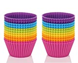Mango Spot Silicone Baking Cups, Cupcake Liners, Truffle Cups - 24 Pack, 6 Colors