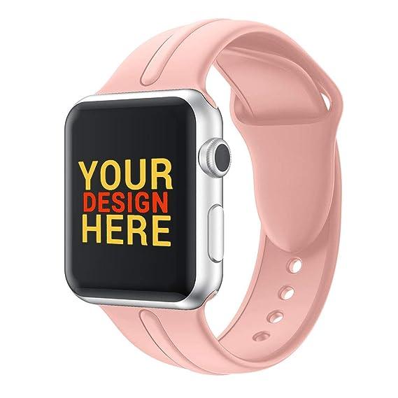 HVDHYY Adecuado para la Correa de Reloj de Apple Watch Inteligente 38 mm,Banda de Silicona Suave Pulsera de Repuesto para iWatch Series 3/2/1 S Rosa: ...