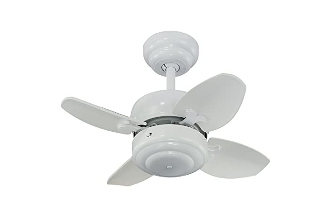 Monte Carlo MCWH Mini Ceiling Fan White Small Ceiling Fan - Small ceiling fans for bathrooms