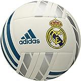 adidas Performance Real Madrid Soccer Ball, White/Vivid Teal/Silver Metallic, 5
