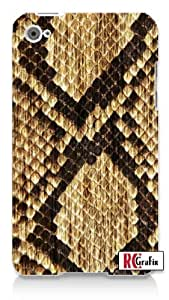Cool Snake Skin Animal Boots Apple ipod 4 Quality Hard Case Snap On Skin for ipod 4/4G (WHITE)
