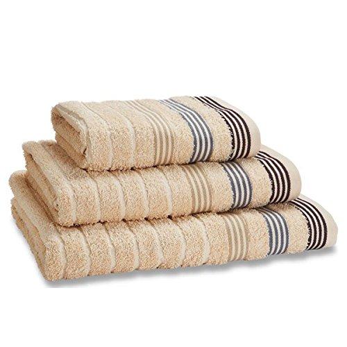 Catherine Lansfield Garrat Stripe 100/% Cotton Jacquard Bath Sheet