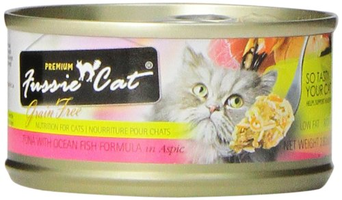 Fussie Cat Premium Tuna With Ocean Fish Canned Cat Food , 2.82-Oz. Cans, Pack Of 24