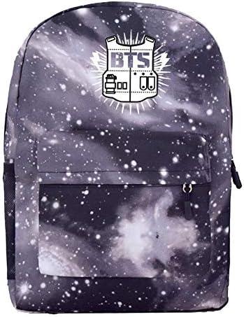 BTS Rucksack für Jugendliche, Sternenhimmel, für Studenten, Schulranzen, Rucksack, College-Rucksack, bunt, für Männer und Frauen