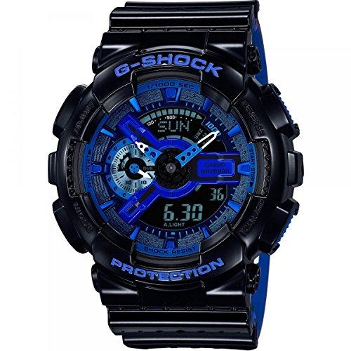 Mens Casio G-Shock Alarm Chronograph Watch GA-110LPA-1AER With Dark Blue Dial