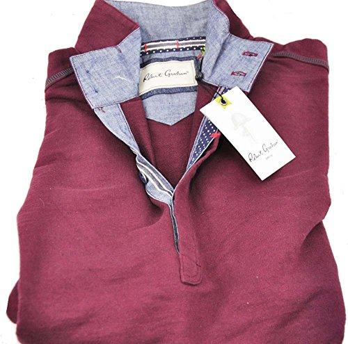 robert-graham-mens-medium-bordeaux-long-sleeve-buttoned-pullover-sweater