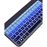 Leze - Ultra Thin Silicone Laptop Keyboard Cover Skin Protector for Logitech Wireless Touch K400 Plus Keyboard - Gradual Blue