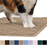 GORILLA GRIP Original Premium Durable Multiple Cat Litter Mat, XL Jumbo, No Phthalate, Water Resistant, Traps Litter from Box and Cats, Scatter Control, Mats Soft on Kitty Paws, Half Circle, Beige